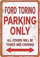 Torino Parking Only 注意看板メタル安全標識注意マー表示パネル金属板のブリキ看板情報サイントイレ公共場所駐車