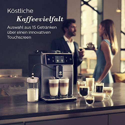 Eine große Auswahl an Kaffeevarianten bietet die Saeco Xelsis.