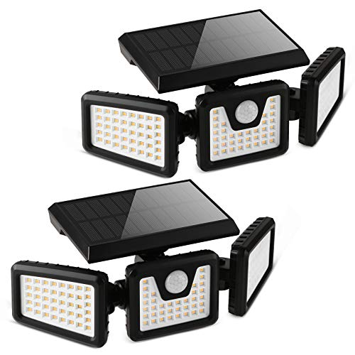 Otdair Solar Security Lights, 3 Head Motion...