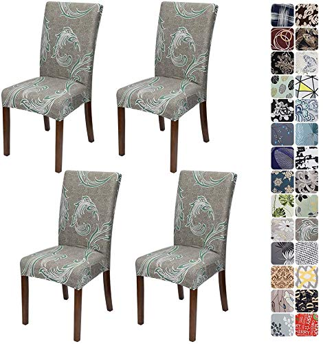 JOTOM Stuhlhussen Universal Stretch Stuhlbezug Elastische Moderne Stuhl Hussen Set Abnehmbare Dekoration Stuhlabdeckung für Esszimmer Party...