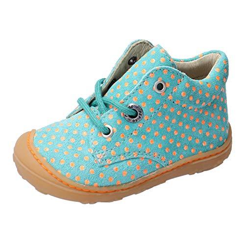 RICOSTA Kinder Lauflern Schuhe DOTS von Pepino, Weite: Mittel (WMS), schnürschuh schnürstiefelchen leicht Kinder Maedchen,Jade,19 EU / 3 Child UK