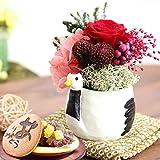 母の日 の プレゼント プリザーブドフラワー バラ 花とスイーツお菓子セット (つる)
