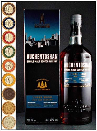 Auchentoshan Three Wood Single Malt Whisky + 9 Edel Schokoladen in 9 Sorten
