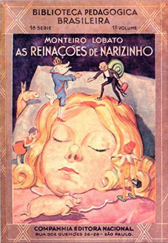 Capa Original 1931 - Coleção Monteiro Lobato - Reinações de Narizinho - Volume 1: NARIZINHO ARREBITADO