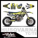 Race-styles - Adesivo decorativo compatibile con Husqvarna TE/TC/FE/FS 17-19 Graphics | Factory Decals Kit