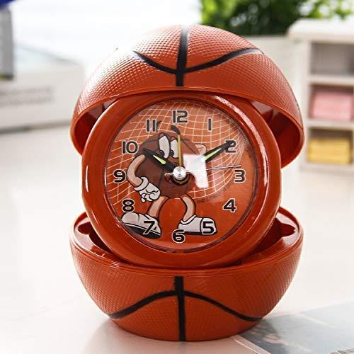 Cartoon Small Small Leuke wekker Opvouwbare Portable Small Leuke wekker Basketbal Voetbal