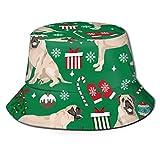 GMGMJ Sombrero de Navidad Mastín Inglés Sombreros Unisex Actividad al aire libre Sol Protección Sombrero de pescador Material Cómodo Campamento Tapas Sol Tapas para uso Casual