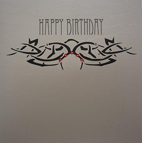 White Cotton Cards TB4 handgemaakte verjaardagskaart assortiment tattoo Bliss