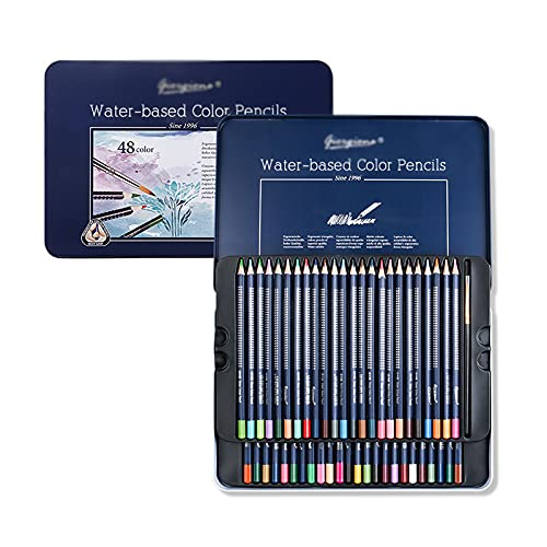 Lihuzmd Set de LáPices de Colores de Artistas,48/72/120 Colores Vibrantes para Colorear Dibujo Bosquejar Sombreado Mezcla Caja de Regalo para NiñOs Principiantes,72