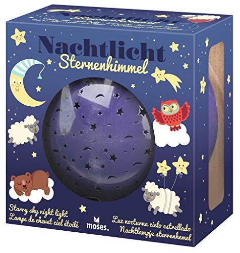Moses. Nachtlicht Sternenhimmel, Sternenhimmel Projektor für Kinder, Babylampe mit kindgerechten Motiven für EIN gemütliches Licht im Kinderzimmer