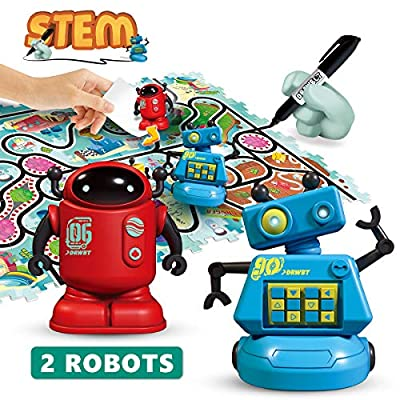 REMOKING STEM Magic Inductive Robot Toys?Creative Track Puzzle Race Game?Learning and Educational Toys for Boys & Girls 3 Years and Up?Party and Birthday Gifts