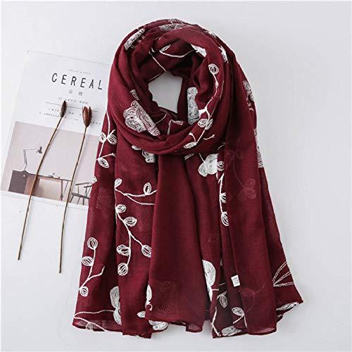 Schal Damen Herbst Winter Stitch Viskose Schal Lady Hochwertige Schals Und Wraps Pashmina Stola Hijab 180 * 90Cm-3