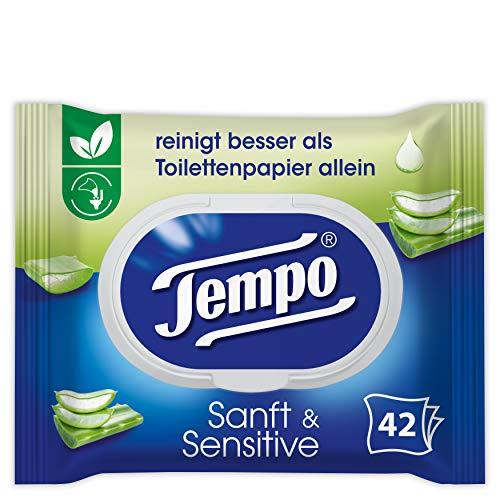 Tempo Toilettenpapier feucht Tempo feuchtes Toilettenpapier sanft&sensitive mit Aloe Vera, 201 g