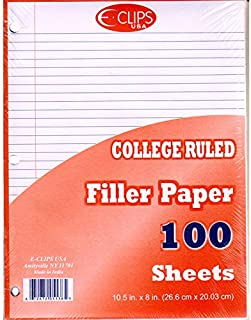 $150 » Auksales 3-Hole Punched Filler Paper w/Red Margin college Ruled, 10-1/2 x 8 Inches, 100 sheets Count, Sold as Case Pack of...