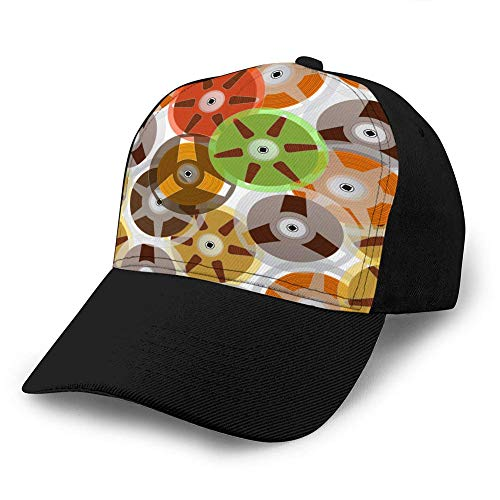 angwenkuanku Women's Snap Back Ball Cap, Breathable, Adjustable Music recordable Babin Printing Cowboy Hat