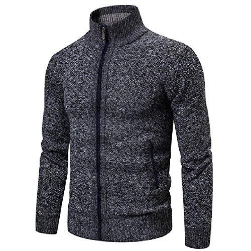 Hombres Invierno Grueso Casual Suéter Algodón Con Capucha Hombres Otoño Knitwear Outwear