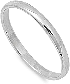 CHOOSE YOUR WIDTH Sterling Silver Wedding Band Comfort Fit Ring 2mm-10mm Sizes 2-15
