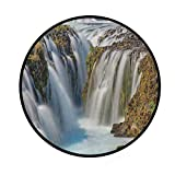 ZOANEN Cascada de Bruarfoss en Islandia Paisaje del río Naturaleza Salvaje, Alfombra Antideslizante Absorbente Alfombra Interior Exterior Alfombra Pasillo Piso Dormitorio Sala de Estar Estudio