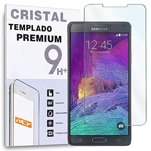 REY Protector de Pantalla para Samsung Galaxy Note 4 Cristal Vidrio Templado Premium
