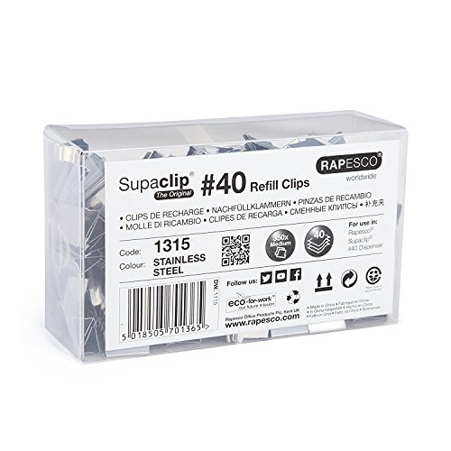 Rapesco Supaclip #40 Refill Clips [Pack of 350]