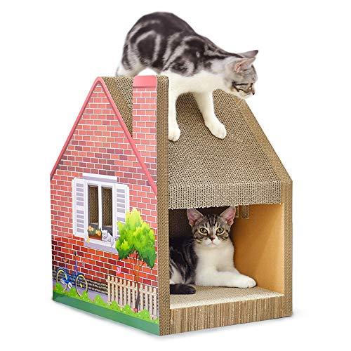 Aida Bz Ondulé Chat Maison à Trois Dimensions Chat Maison Griffes Toit Assemblée Libre Cat Scratch Board Cat Escalade Cadre