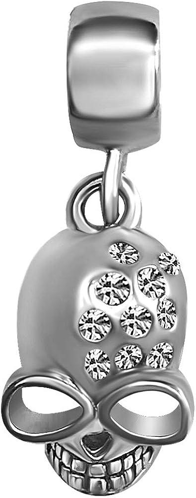 JMQJewelry Skull Halloween Dangle Birthday Birthstone Charms for Bracelets Women Girls Men Christmas Gifts