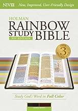 NIV Rainbow Study Bible, Saddle Brown LeatherTouch