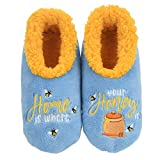 Snoozies Womens Slippers - Womens House Slipper Socks - Home is Where Pairables - Large