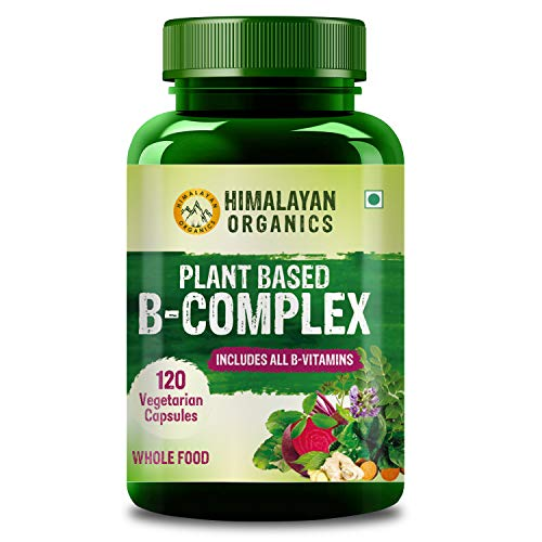 Himalayan Organics Plant Based B-Complex Supplement with All B-Vitamins - 120 Veg Capsules