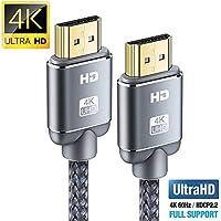 Cable HDMI 4K 2metros-Snowkids Cable HDMI 2.0 de Alta Velocidad Trenzado de Nailon 4K a 60Hz a 18Gbps Compatible con Fire TV, 3D, Función Ethernet, Video 4K UHD 2160p, HD 1080p-Xbox 360 PS3 PS4 - Gris