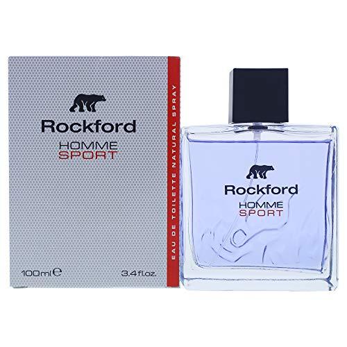 Rockford Homme Sport Eau De Toilette, Profumo da Uomo, Fragranza Enigmatica ed Elegante - 100 ml