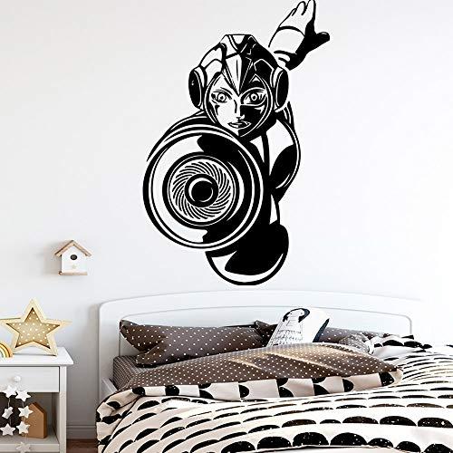 Pegatinas de pared de cocina de dibujos animados bonitos papel tapiz para niños pegatinas de decoración de habitación de jardín de infantes pegatinas de pared impermeables A7 57x87cm