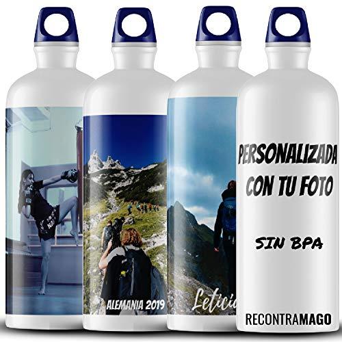 RecontraMago Botella de Agua de Acero Inoxidable Reutilizable - Personalizada con tu Foto BPA Free