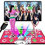 WE&ZHE HDMI Double Wireless Dance Mat, Massage Dance Blanket Soundproof Game Pad,TV Computer Dual-Use Somatosensory Game Dance Machine,125 Games,B