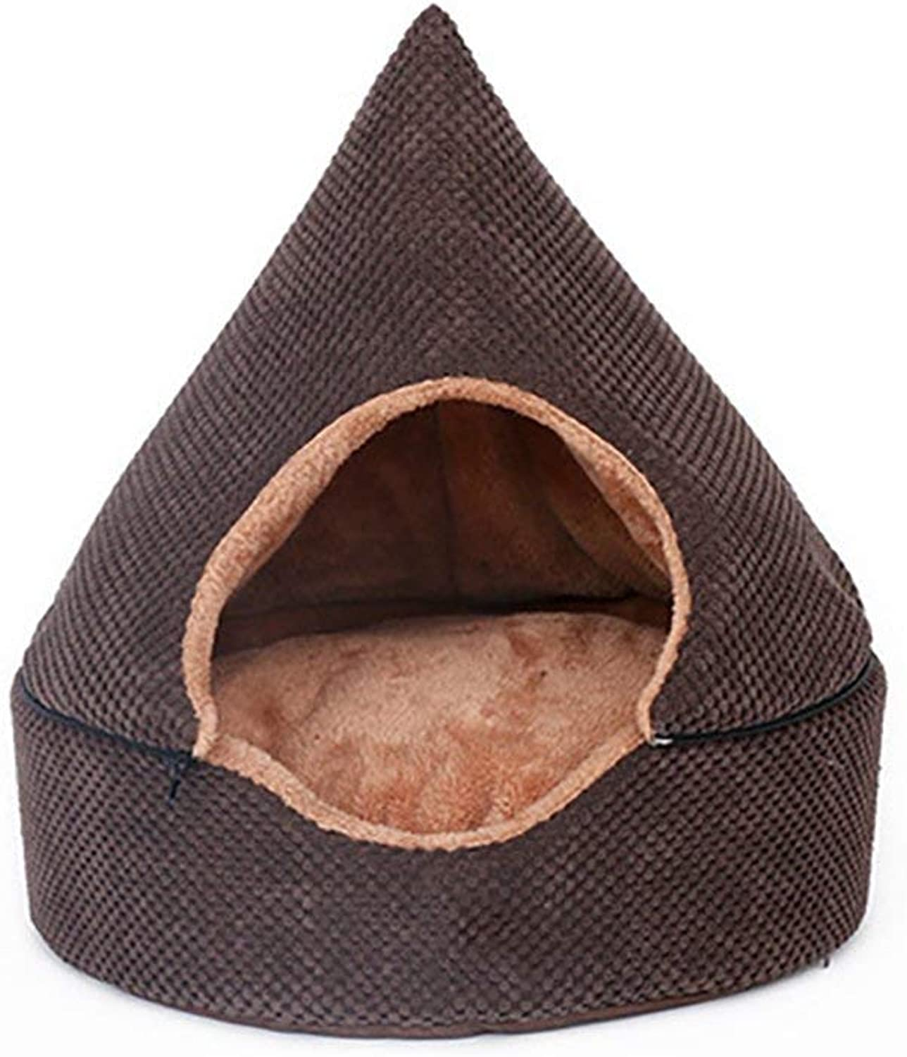 Pet Sofa Yurt Closed Type Pet Tent Warm Breathable Four Seasons Universal Dual Use Cat House Soft Washable Dog Mats Removable DirtResistant Summer Medium Dog Cushion NonSlip MoistureProof Pet Beds,