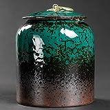 DFBGL 1 par de tarros de Almacenamiento, Tanque de Tetera de cerámica con Tapa para Cocina, hogar, Puede almacenar té, Semillas de Miel, café, latas de azúcar, Regalos, café, Vainilla, e