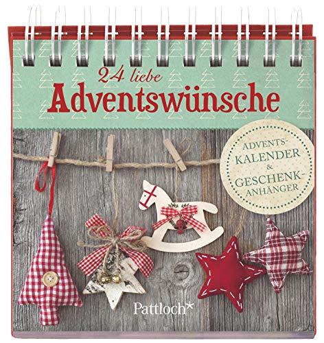24 liebe Adventswünsche: Adventskalender & Geschenkanhänger