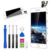 FLYLINKTECH Ecran LCD Vitre pour iPhone 6 Blanc avec Outils Bouton Home Écouteur Interne Caméra De Face et La Protection...