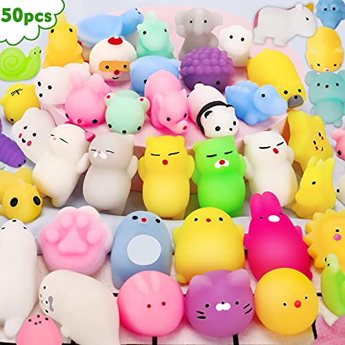 Mini Kawaii Squishies 50PCS Mochi Squishy Toys For...
