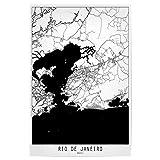 artboxONE Poster 120x80 cm Städte Rio de Janeiro map