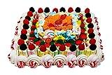 REGALO DULCE Tarta de chuches, Tarta de Golosinas Regalo, Tarta chucherias cuadrada con 190 chuches regalo, 1.32kg, 30x30 cm
