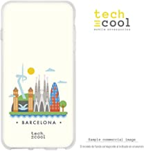 Funnytech® Funda Silicona para Sony Xperia XZ2 Compact [Gel Silicona Flexible, Diseño Exclusivo] Ilustración Ciudad Barcelona