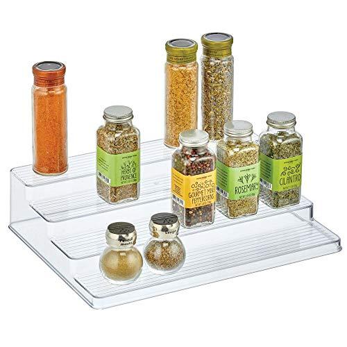 mDesign Organizador de Especias – Práctico Soporte Organizador de armarios de plástico...