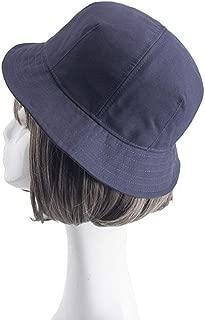 Unisex Cotton Bucket Hat Women Cap (Color : Blue)