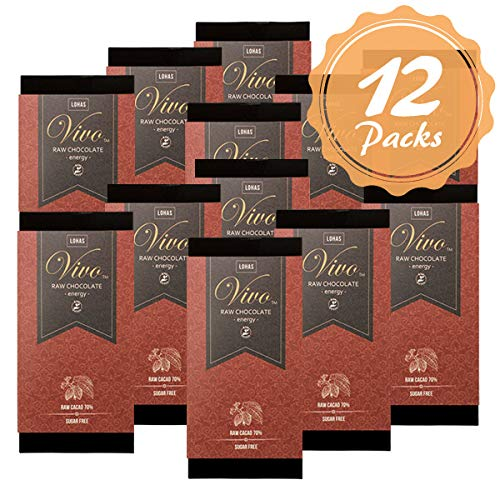 12枚セット ローチョコレートVivo エナジー マカ配合 生カカオ70% 砂糖・乳製品は一切不使用 生チョコレート