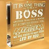 Boss Gifts For Men   Office   Desk   Funny   Christmas   Birthday   Keepsake   Paperweight