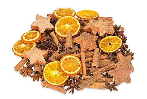 NaDeco Weihnachts Potpourri 250g mit Zimtstangen, Sternanis, Orangenscheiben, Tannenzapfen und Kokossternen