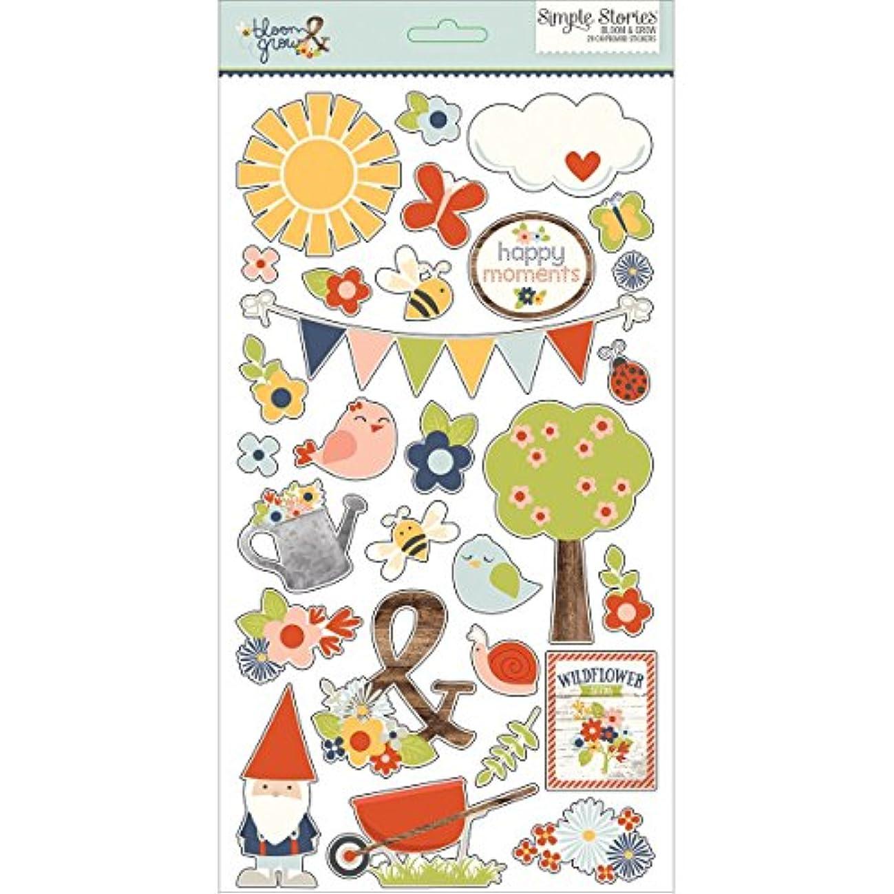 Bloom & Grow Chipboard Stickers 6
