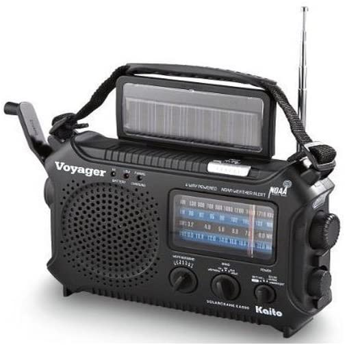 Kaito KA500 5-way Powered Emergency AM/FM/SW NOAA Weather Alert Radio with Solar,Dynamo Crank,Flashlight and Reading… 4