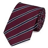 Fabio Farini Moderne Krawatte 8 cm in verschiedenen Farben, Rot-Blau gestreift